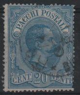 1884-86 Pacchi Postali 20 C. US - 1861-78 Vittorio Emanuele II