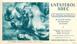 VP-GF.18-265 : BUVARD. UVESTEROL ADEC. VITAMINES  LABORATOIRE CRINEX-UVE.  PEINTURE DE RUBENS. - Buvards, Protège-cahiers Illustrés