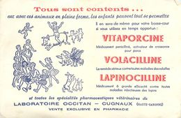 VP-GF.18-267 : BUVARD. DU LABORATOIRE OCCITAN. CUGNAUX. HAUTE-GARONNE. VITAPORCINE. VOLACILLINE. LAPINNOCILLINE - Buvards, Protège-cahiers Illustrés