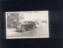 30 Moussac 1936 Cliché Format 6,5 X 10,5 Cms Automobile Peugeot 401 - France