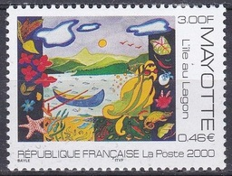 Mayotte 2000 Kunst Kultur Gemälde Paintings Insel Lagune Island Isola Lagoon, Mi. 82 ** - Mayotte (1892-2011)