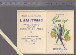 Calendrier  Parfumé - Petit Format - 1964 - Parfum Ramage De Bourjois - Calendriers