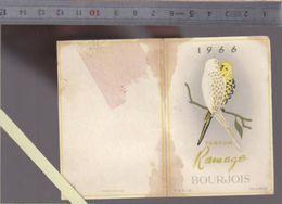 Calendrier  Parfumé - Petit Format - 1966 - Parfum Ramage De Bourjois - Voir état - Calendriers