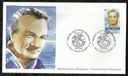 GRANDS AVENTURIERS FRANCAIS . ERIC TABARLY . 16 SEPTEMBRE  2000 . LA TRINITE - SUR - MER . - FDC
