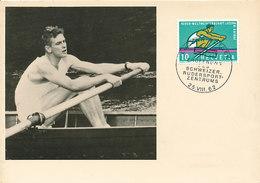 D32905 CARTE MAXIMUM CARD 1962 SWITZERLAND - ROWING POSTMARK LUZERN CP ORIGINAL - Rowing