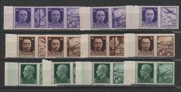 1942 Propaganda Di Guerra Serie Cpl MNH - 1900-44 Vittorio Emanuele III