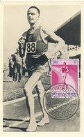 D32906 CARTE MAXIMUM CARD 1957 SAN MARINO - SPEED WALKING ATHLETICS CP PHOTOCARD - Athletics