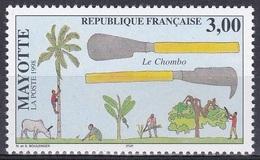 Mayotte 1998 Arbeitswelt Work Werkzeuge Tools Outil Utensilio Utensile Chombo, Mi. 54 ** - Mayotte (1892-2011)