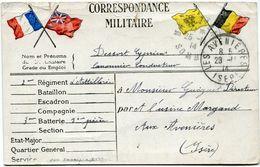 FRANCE CARTE DE FRANCHISE MILITAIRE AVEC OBLITERATION LES AVENIERES 28-11-14 ISERE - Marcophilie (Lettres)