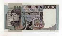 """Italia - Banconota Da Lire 10.000 """" Macchiavelli """" - SPL+ - Decreto 8.3.1984 - (FDC8514) - [ 2] 1946-… : Républic"""
