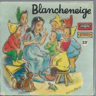 """45 Tours SP - Série TV """" BLANCHE NEIGE """" ( Déssin Animé - GERMAINE BOURET ) + LIVRET 12 Pages 2ème Pochette - Soundtracks, Film Music"""