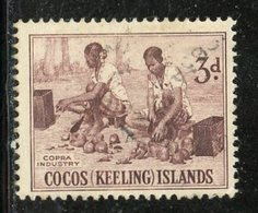 Cocos Islands 1963 3p Cocoa Industry Issue #1 - Cocos (Keeling) Islands