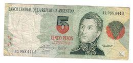 Argentina 5 Pesos 1992 - Argentina