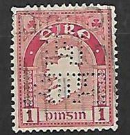 PER371 - IRLANDA - PERFIN 41 - 1 P. - CATALOGO UNIFICATO - 1922 Governo Provvisorio