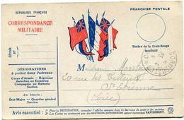 FRANCE CARTE DE FRANCHISE MILITAIRE AVEC OBLITERATION TRESOR ET POSTES 25-4-18 - Marcophilie (Lettres)