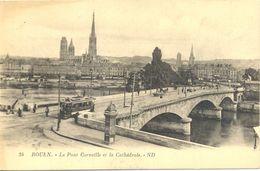 France - Seine Maritime - Rouen - Pont Corneille Et Cathédrale -- ND Nº 24 - Levy Et Neurdein - Ecrite, Timbrée - 4897 - Rouen