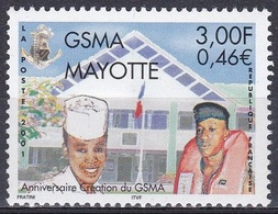 Mayotte 2001 Militär Militärdienst SMA Military Service Kaserne Barracks Casern, Mi. 105 ** - Mayotte (1892-2011)