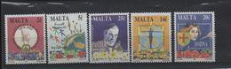 LOT 534  - MALTE   N°   924/928  ** - L. PASTEUR - MAINS - Louis Pasteur