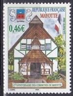 Mayotte 2002 Staatswesen Verwaltung Gemeinde Community Gemeinderecht Architektur Bauwerke Rathaus, Mi. 129 ** - Mayotte (1892-2011)