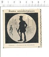 2 Scans Presse 1910 Humour L'apache (argot Truand) Le Microbe Des Noctambules Couteau Arme Bâton Insécurité Paris 51C4 - Vecchi Documenti