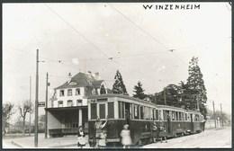 68  VINZENHEIM  (HAUT- RHIN )...ANIMEE...TRAIN...TRAMWAY... CARTE POSTALE- PHOTO..AGFA..C2565 - Tramways