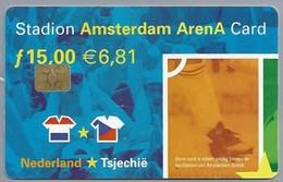 NL.- Telefoonkaart. 15 Gulden. STADION AMSTERDAM. ARENA CARD. NEDERLAND TSJECHIË. EURO 2000. VOETBAL. AA01114889 - Sport