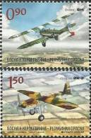 BHRS 2012-576-7 OLD AIR PLANE, BOSNA AND HERZEGOVINA-R.SRBSKA, 1 X 2v, MNH - Flugzeuge