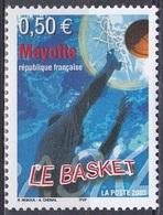 Mayotte 2003 Sport Spiele Ballspiele Basketball Korb Körbe Korbwurf, Mi. 147 ** - Mayotte (1892-2011)