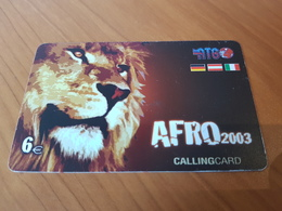 Lion Afro 2003 - 6 Euro  - Little Printed   -   Used Condition - Deutschland