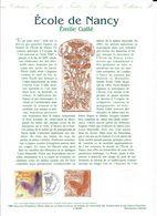 Doc Fdc+ Gravure 22/5/99, N°3246 Yvert, école De Nancy, émile Gallé, Papilon, Art Nouveau - Documentos Del Correo