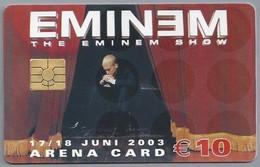 NL.- Telefoonkaart. 10 Gulden. AMSTERDAM. ARENA CARD. EMINEM. THE EMINEN SHOW. 17/18 JUNI 2003. MEDIA MARKT. - Muziek