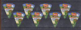 AC - GULSAN TRIANGLE TRIANGULAR CREAM CHEESE LABELS 8 PIECES FROM TURKEY - Cheese