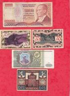 Pays Du Monde 10 Billets état Voir Scan  Lot N °419 (Allemagne 2 Billets En SUP) - Coins & Banknotes