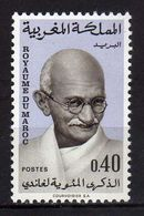Morocco. Maroc  1969 The 100th Anniversary Of The Birth Of Mahatma Gandhi, 1869-1948..Nobel Prize Winners/Peace MNH - Morocco (1956-...)