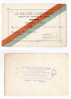 Mâcon, Carte De Membre Du Rallye-Lespinasse, Société De Trompes De Chasse, 1939, M. Villecourt, Vénerie - Macon