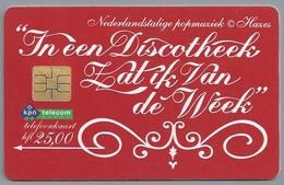NL.- Telefoonkaart. Hfl 25,00. PTT Telecom. NEDERLANDSTALIGE POPMUZIEK. HAZES. In Een Discotheek .. A437 - Muziek