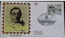 France 1994 Georges Simenon FDC. - 1990-1999