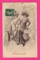 CPA  (Réf Z825) Illustrateur  M M. Vienne M. MUNK  Kranzle Heureuse Année Femmes Beaux Chapeaux - Vienne