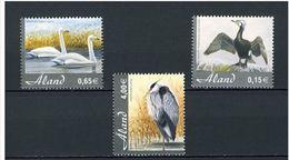 2005 Aland Neuf ** N° 244/246 Faune : Oiseau : Cormoran : Cygne : Héron - Swans