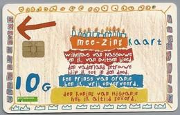 NL.- Telefoonkaart. PTT TELECOM. 10,00 Gulden. 30 April. Leve De Koningin. Mee Zing Kaart. Wilhelmus. A820 - Sport