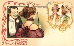 [DC11628] CPA - STUPENDA CARTOLINA ILLUSTRATA - CENTENARIO 1800-1900 - PERFETTA - Non Viaggiata - Old Postcard - Illustratori & Fotografie