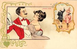 [DC11629] CPA - STUPENDA CARTOLINA ILLUSTRATA - CENTENARIO 1800-1900 - PERFETTA - Non Viaggiata - Old Postcard - Illustratori & Fotografie