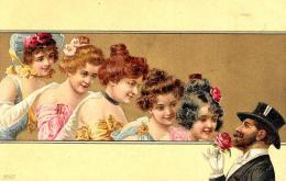 [DC11634] CPA - STUPENDA CARTOLINA ILLUSTRATA - SFONDO DORATO - PERFETTA - Non Viaggiata - Old Postcard - Illustratori & Fotografie