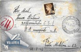 [DC11651] CPA - BUSTA - VIA AEREA - CIVIDALE DEL FRIULI (UDINNE) - Viaggiata 1943 - 1900-44 Vittorio Emanuele III