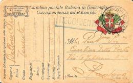 [DC11653] FRANCHIGIA MILITARE ESERCITO - Viaggiata 1917 - Old Postcard - 1900-44 Vittorio Emanuele III