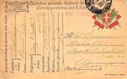 [DC11653] FRANCHIGIA MILITARE ESERCITO - Viaggiata 1918 - Old Postcard - 1900-44 Vittorio Emanuele III
