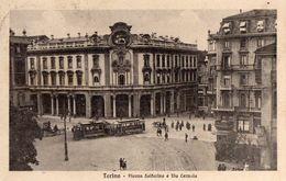 TORINO-PIAZZA SOLFERINO E VIA CERNOLA-TRAM-1924 - Italy