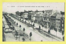 * Lille - Rijsel (Dép 59 - Nord - France) * (E.C., Nr 14) Le Nouveau Boulevard Reliant Les Trois Villes, Tramway - Lille