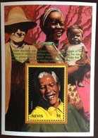 Nevis 1999 Famous People Mandela Minisheet MNH - St.Kitts And Nevis ( 1983-...)