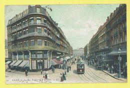 * Lille - Rijsel (Dép 59 - Nord - France) * (LL, Nr 79) La Rue Faidherbe Et La Gare, Tram, Vicinal, TOP, Unique, Couleur - Lille